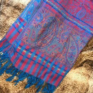 100% cashmere reversible pashmina scarf